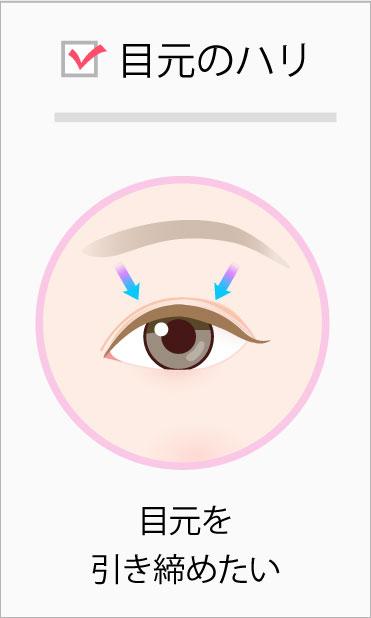 目元のハリ:目元を引き締めたい