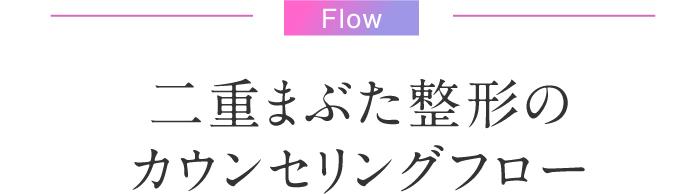 Flow 二重まぶた整形のカウンセリングフロー